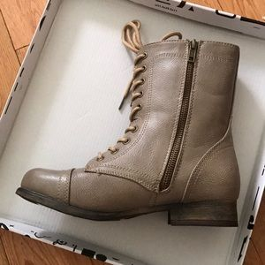 Bamboo Combat Boots BRAND NEW SIZE 5.5